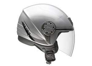 Helm Jet Givi 10.4F Solid Colour Silber