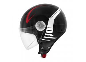Helm Jet Givi 10.7 Mini-J Icarus Schwarz Weiß Rot