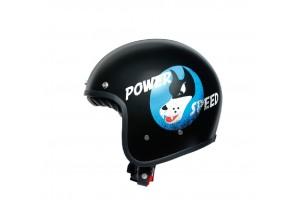 Helm Jet Agv Legends X70 Volt Power Speed Matt Schwarz