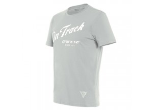 Dainese T-SHIRT PADDOCK TRACK Glacier-Grau/Weiß