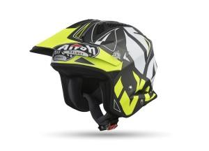 Helm Jet On-Off Airoh Trr S Convert Matt Gelb