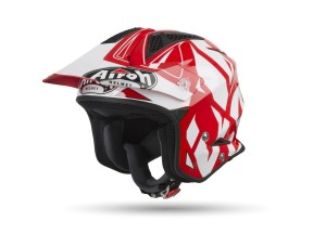 Helm Jet On-Off Airoh Trr S Convert Glänzendes Rot