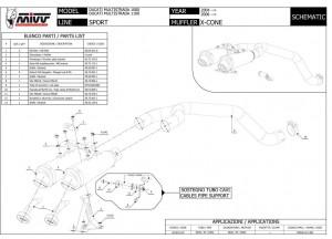 UD.010.LC3 - Schalldämpfer Auspuff Mivv X-Cone Ducati Multistrada 1000/1100