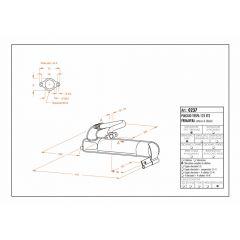 0237C - Full Exhaust LeoVince Sito Black VESPA 125 ET3/125 PRIMAVERA