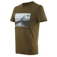 T-Shirt Adventure Dream Dainese Military-Olive/Negro