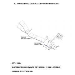 16004 - Colector Escape LeoVince Catalítico Yamaha MT-09 / XSR 900