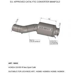 16022 - Auspuff Mitte Rohr LeoVince katalysierten