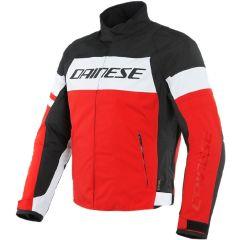 Veste de moto Homme Dainese SAETTA D-DRY Noir Rouge-Lava Blanc