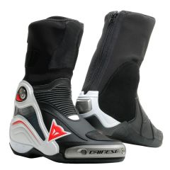 Botas de Cuero Dainese Racing Axial D1 Negro Blanco Rojo Lava