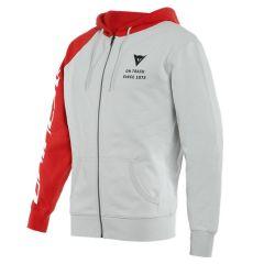 Dainese PADDOCK Full-Zip Hoodie Glacier-Gray/Lava-Red/Black