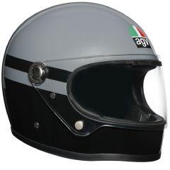 Casque Intégral Agv Legends X3000 Superba Gris Noir