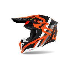 Helmet Full-Face Off-Road Airoh Aviator 3 Rainbow Orange Matt