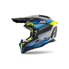 Integral helm Off-Road Airoh Aviator 3 Wave Silberchrom
