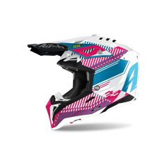 Helmet Full-Face Off-Road Airoh Aviator 3 Wave Pink Chrome