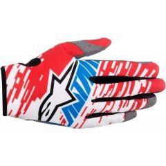 Handschuhe Alpinestars RACER BRAAP Rot/Weiß