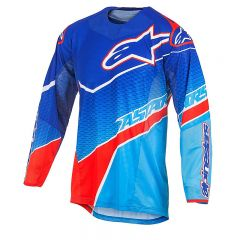 Camiseta Alpinestars TECHSTAR VENOM Azul/Rojo