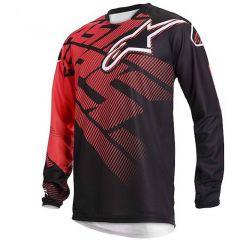 Camiseta Alpinestars Racer Negro/Rojo