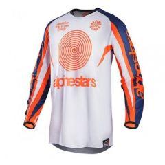 Camiseta Alpinestars RACER 7 JERSEY Blanco/Naranja