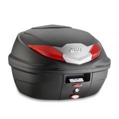 B360N - Top Case Givi Monolock B360 Noir Rouge platine kit de fixation 36lt