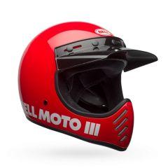 Casco Bell Off-Road Motocross Moto-3 Classic Rojo Brillante