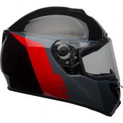 Full-face Helmet Bell Srt Razor Black Grey Red
