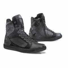Zapatos Moto Forma Urbana Cuero Impermeable Hyper Negro Negro