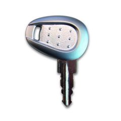 Z661GA - Givi Blank key with Silver handle (thickness 2.5 mm)