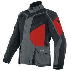 Veste De Moto Homme Dainese Gore-Tex D-Explorer 2 Ebony Noir Rouge-Lava