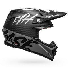 Casco Bell Off-Road Motocross Moto-9 Carbon Flex Fasthouse Negro Blanco Gris