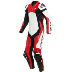 Leather Suit Dainese Assen 2 1PC Perforated White Lava-Red Black