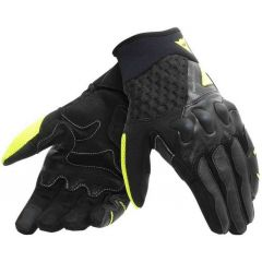 Gants de Moto Dainese X-Moto Unisex Noir Jaune-Fluo