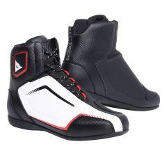 Chaussures de Moto Homme Dainese RAPTORS AIR Noir/Blanc/Rouge-Lava