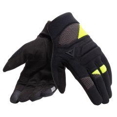 Gants de Moto Dainese FOGAL UNISEX Noir/Jaune-Fluo