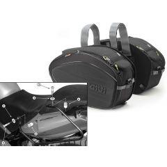 Alforjas Laterales Givi EA100B + Soporte para Honda CBF 500/600/1000