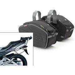 Satteltaschen Givi  EA101B + Abstandshalter für Honda GSR 600 (06>11)