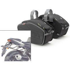 Satteltaschen Givi  EA101B + Abstandshalter für Yamaha FZ1 1000 (06>15)