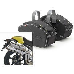 Satteltaschen Givi  EA101B + Abstandshalter für Ducati Monster (04>08)