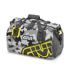 EA115CM - Givi Waterproof roller bag saddle or luggage rack 40 Lt Yellow Gray