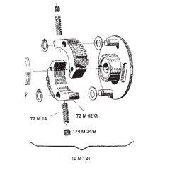 10M124 - Surflex Centrifugal Impeller clutch modification BENELLI Bobo 50