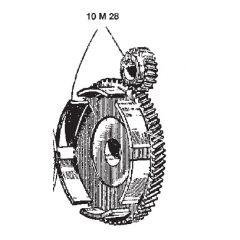 10M28 - Clutch Parts Surflex Cup with couple BENELLI 50 2t (57-57)