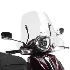 106A - Givi Windschild transparent 32x61,5cm Piaggio Beverly