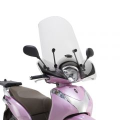 1125A - Givi Windschild transparent Größe A/D: 43x46cm (HxB) Honda SH Mode 125