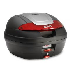 E340N - Givi Maleta Monolock E340 VISION 40lt Negro/Reflectores Rojos