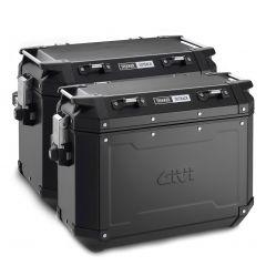 OBKN4837BPACK2 - Givi Pair of Trekker Outback Black Line suitcases 48/37