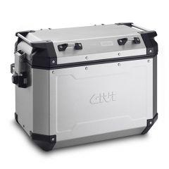 OBKN48AL - Givi Left Trekker Outback natural aluminium side-case, 48 ltr