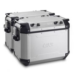 OBKN48APACK2 - Givi Couple Trekker Outback natural aluminium side-case, 48 ltr