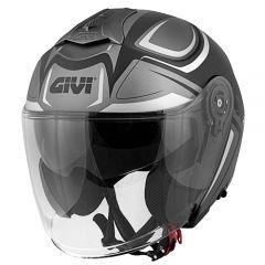 Helmet Jet Givi 12.3 Stratos SHADE Matt Titanium Black White