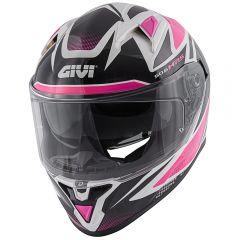 Helmet Full-Face Givi 50.6 Stoccarda Follow Lady Black White Fuchsia