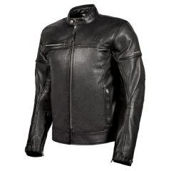 Veste en Cuir Moto Hevik Black Cafè Noir