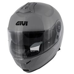 Helm Modular Geöffnet Givi X.20 Expedition Solid Color Glänzend Grau